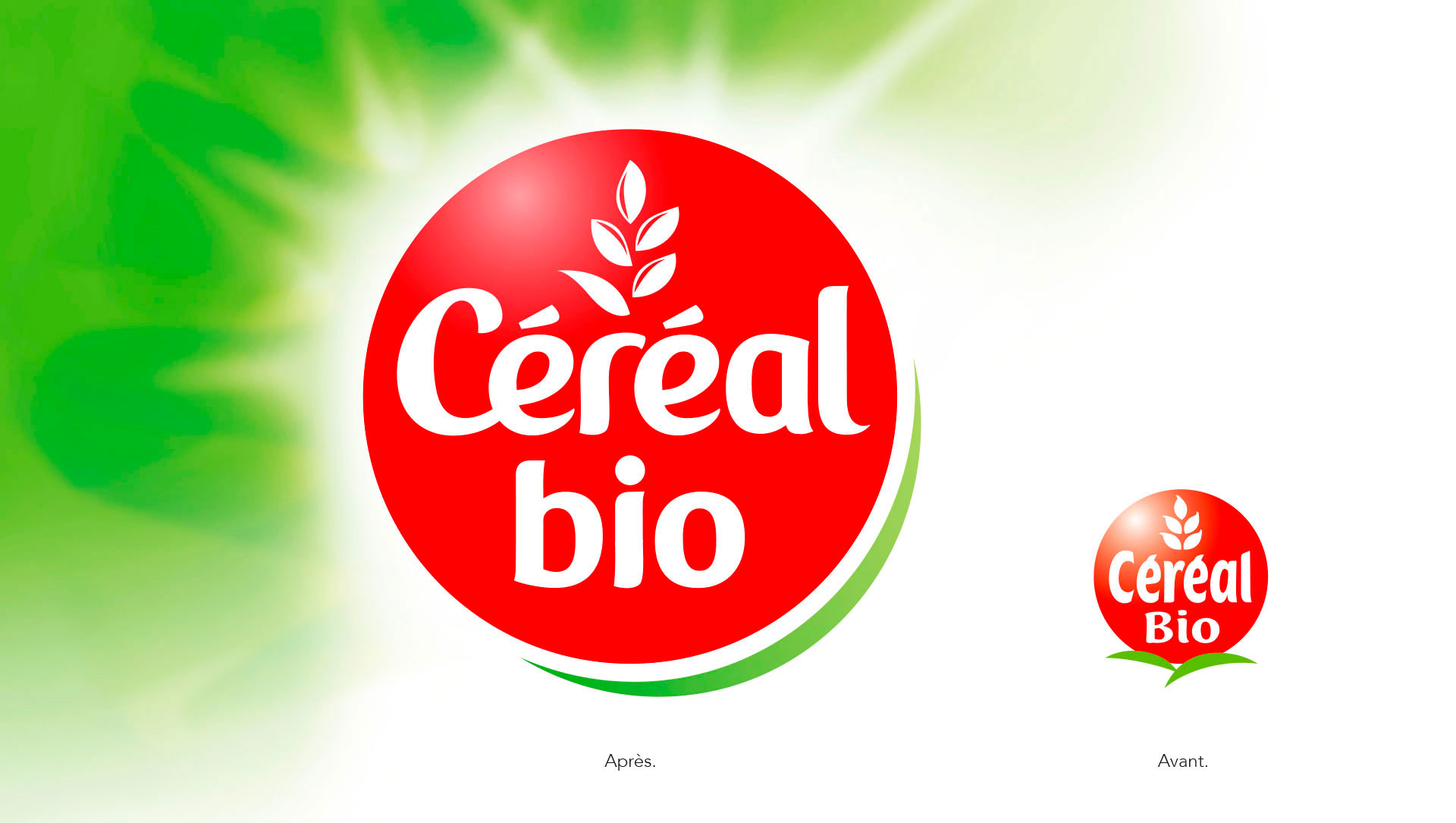 Logo cereal bio cartoon.design