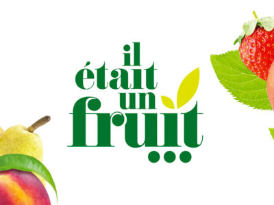 il etait un fruit logo cartoon.design
