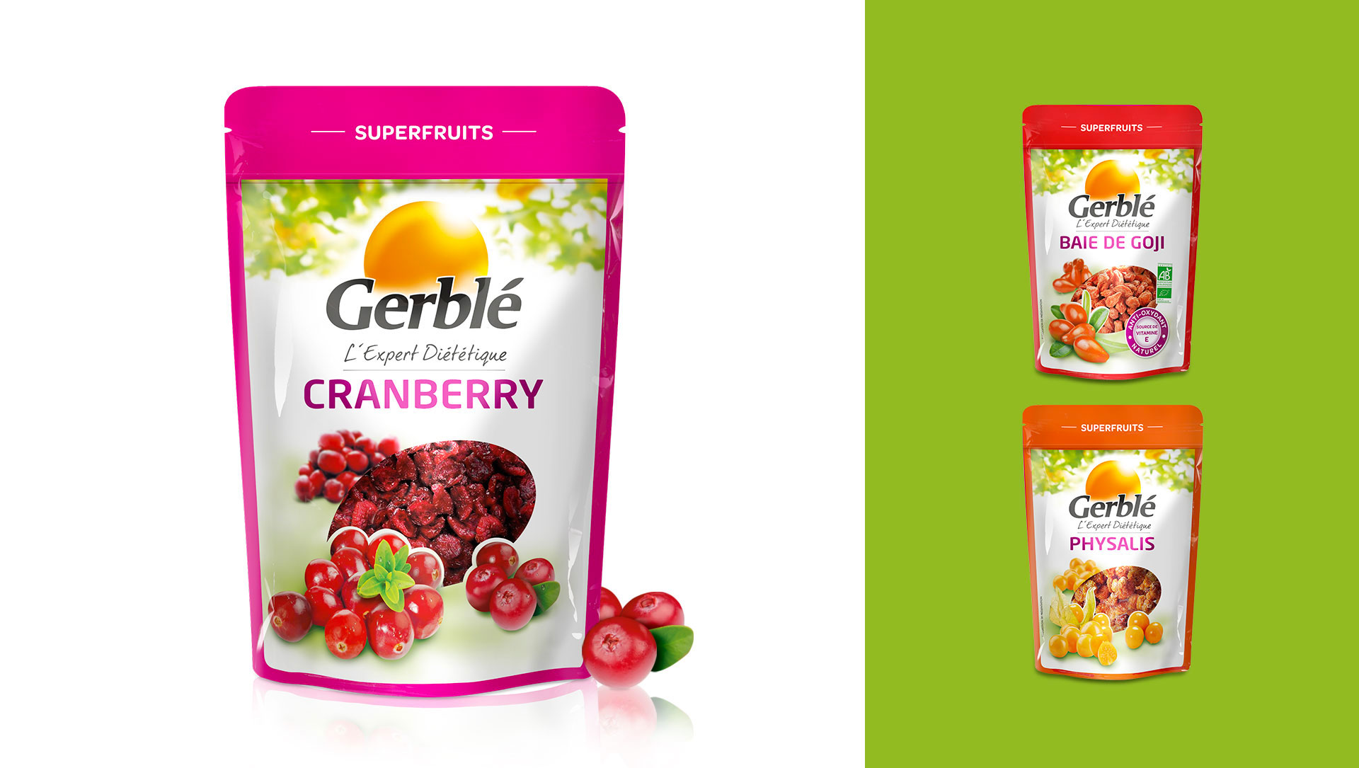 gerblé cranberry cartoon.design