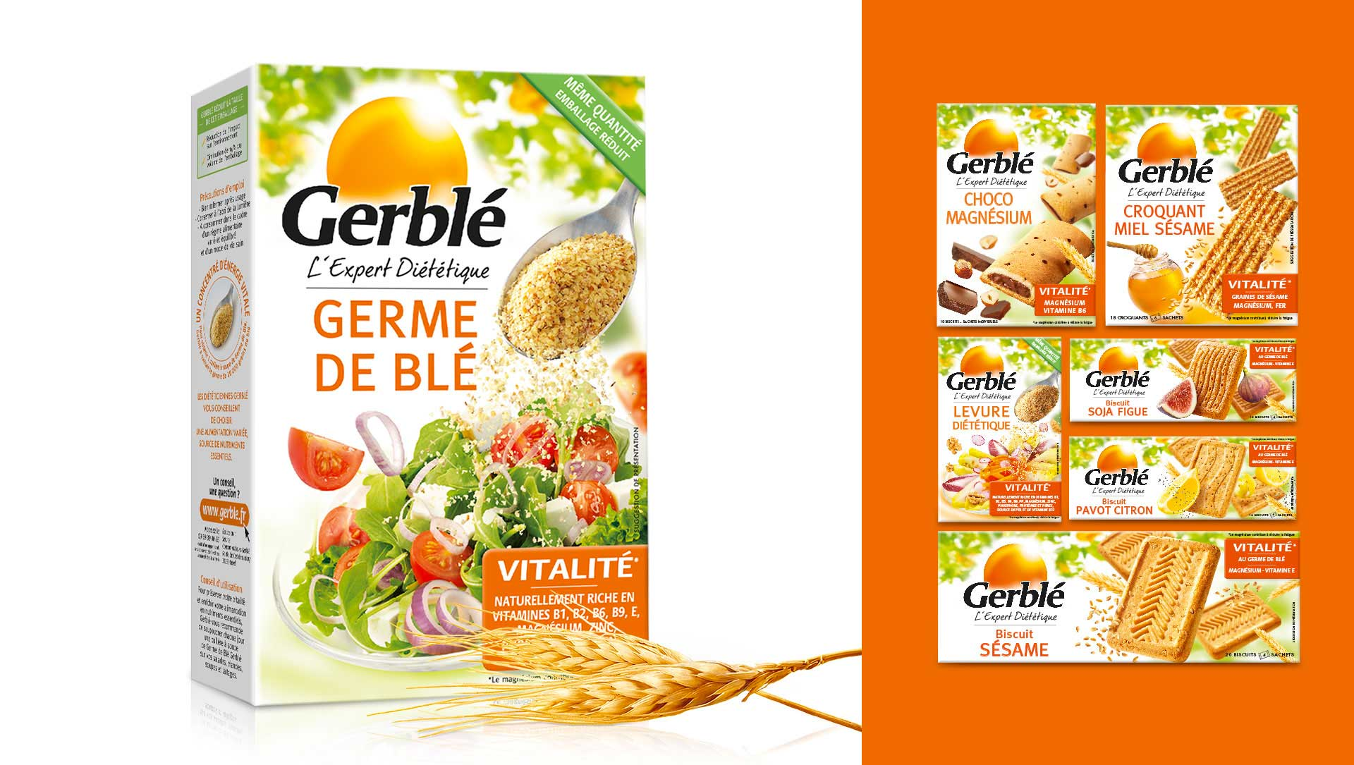 gerblé germe de blé cartoon.design