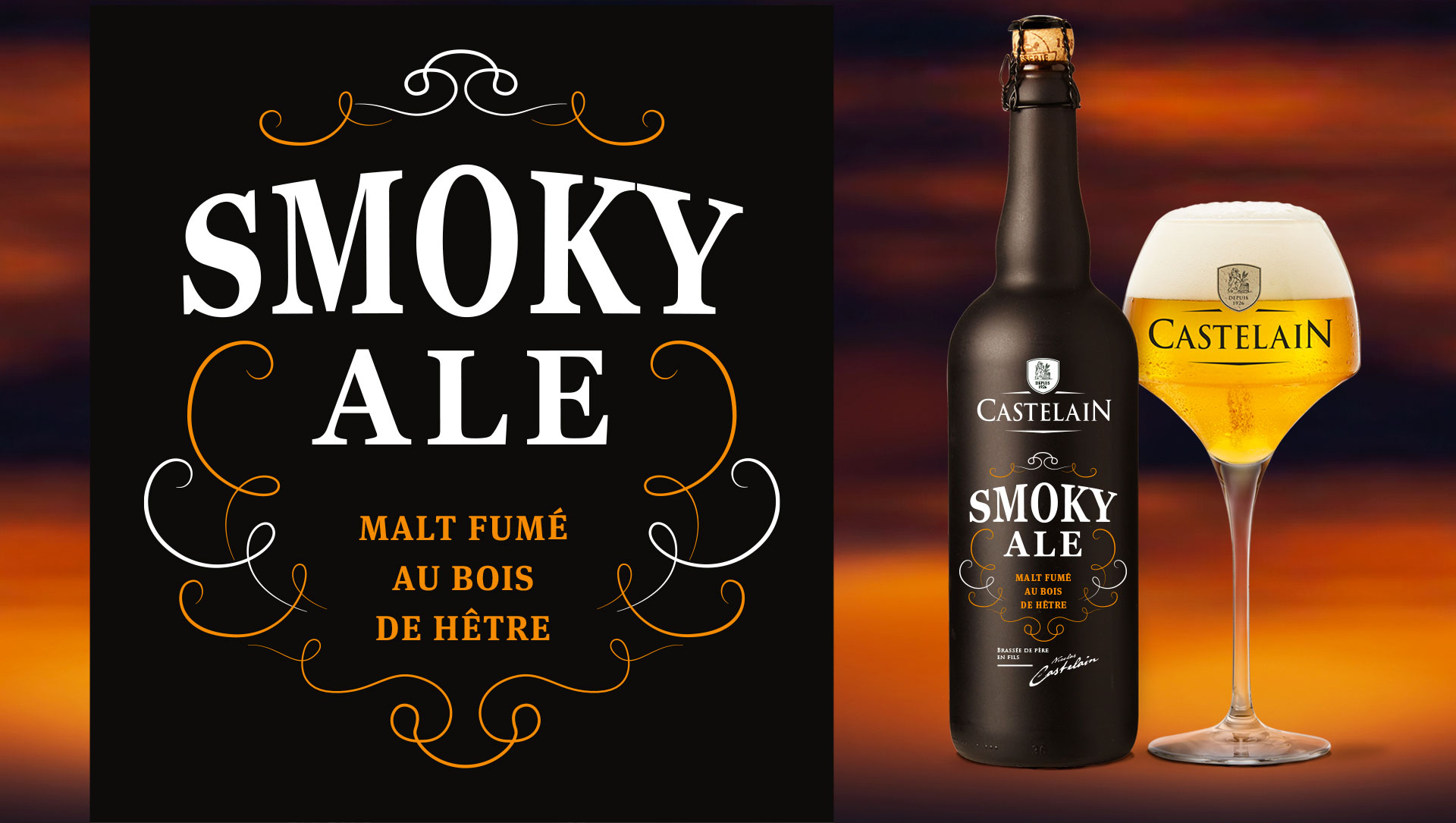 castelain SMOKY ALE cartoon.design